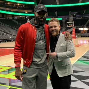 Dr. Kristofer Chaffin with Tyreke Evans