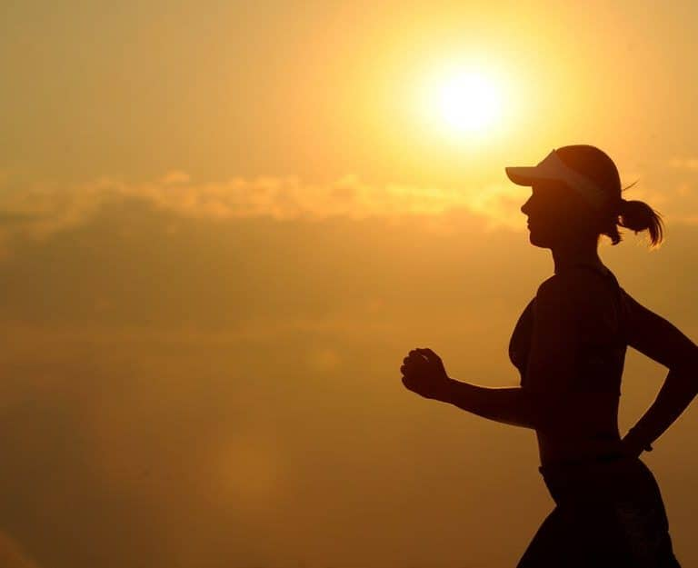 holistic health woman running